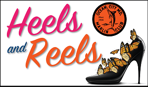 heels and reels logo and butterflies coming out of high heel