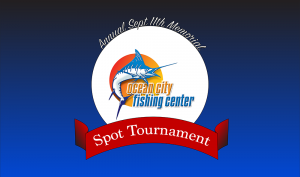 ocean city fishing center logo and spot tournament ribbon