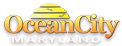 Visit Ocean City, Maryland logo with half a sun graphic