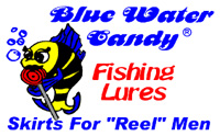 blue water candy fishing lures logo