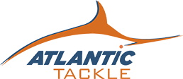 Orange and blue Atlantic Tackle logo