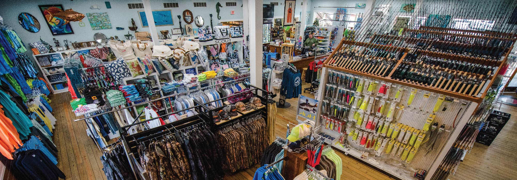 Inside view of Atlantic Tackle's store in West Ocean City, MD