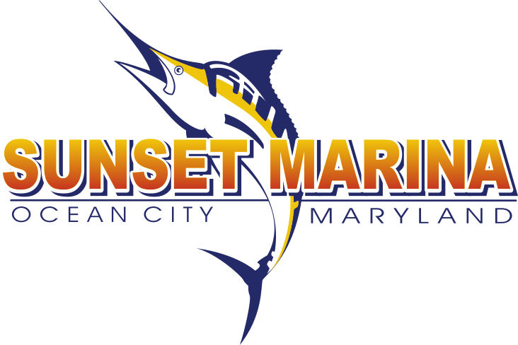 OC Sunset Marina logo with a Marlin
